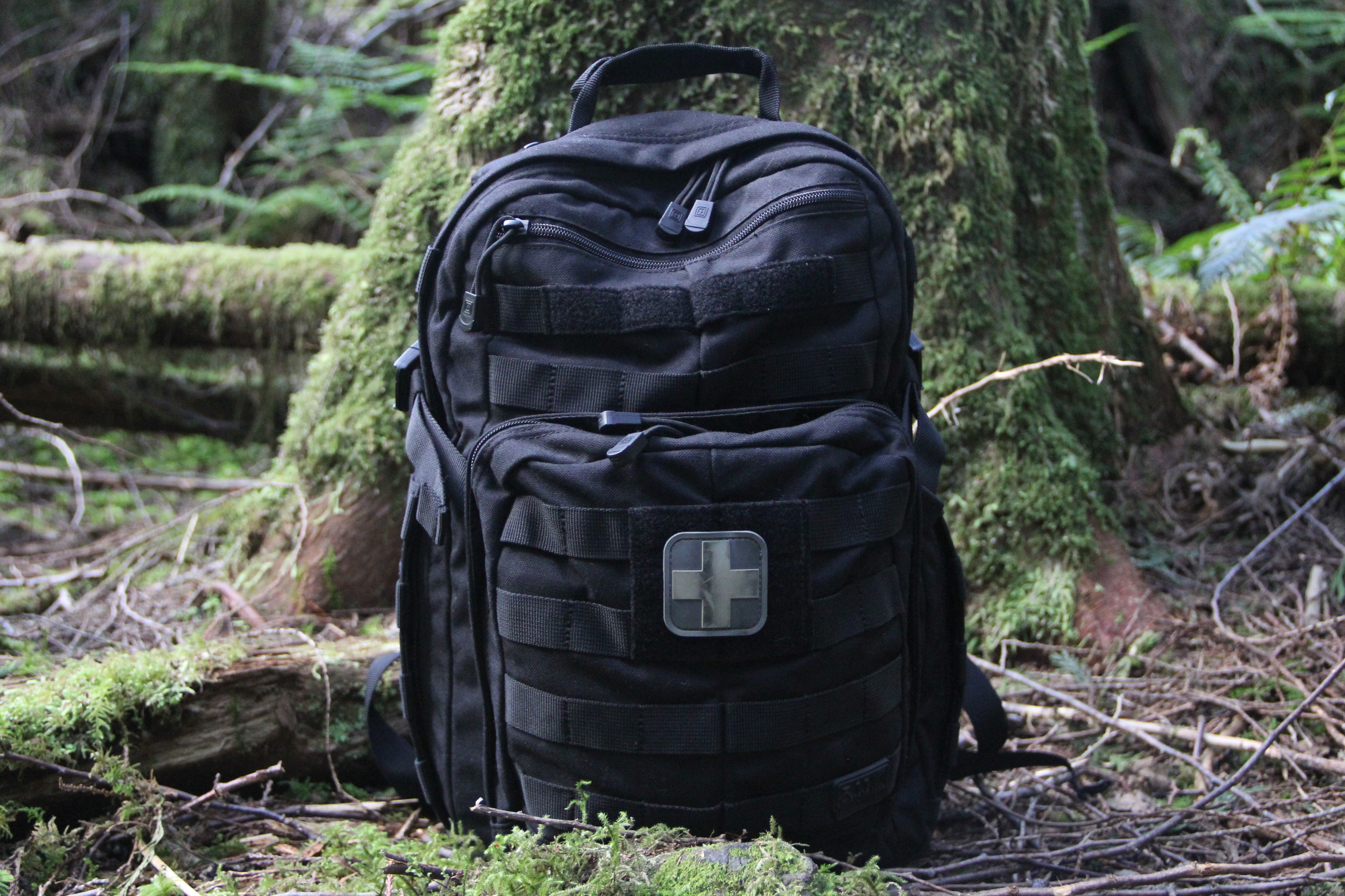tactical backpack outdoors
